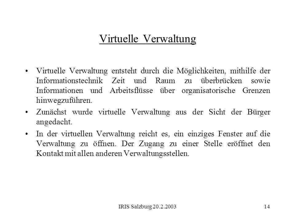 Virtuelle Verwaltung