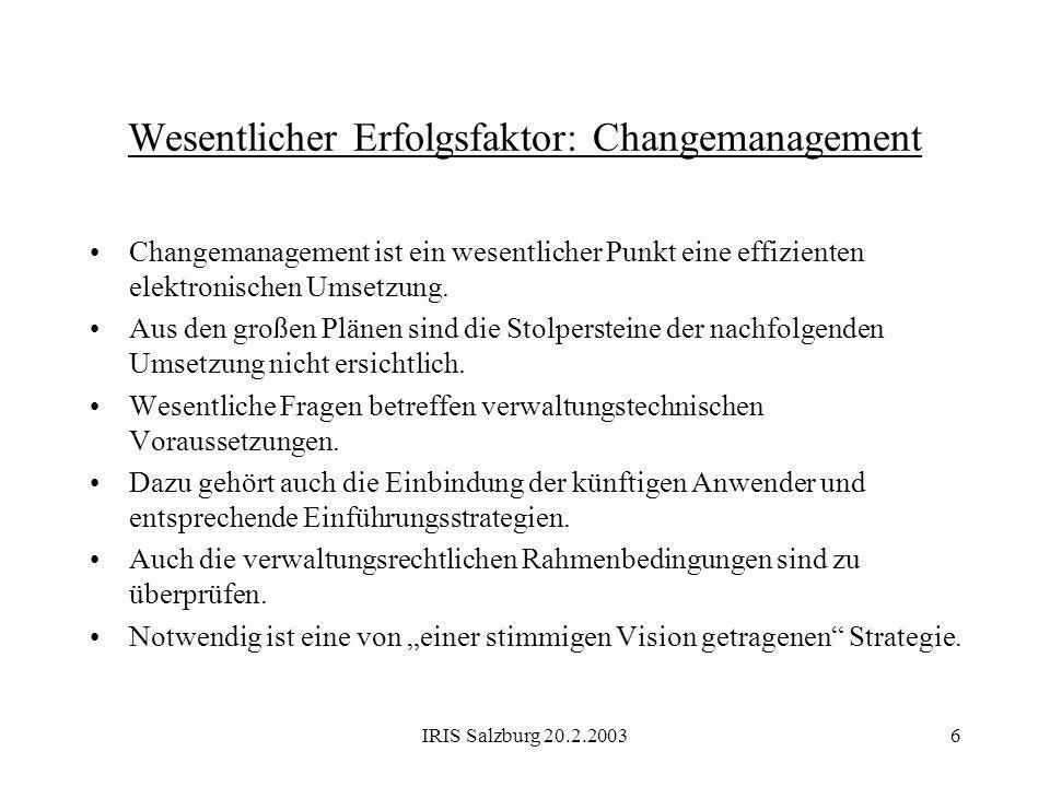 Wesentlicher Erfolgsfaktor: Changemanagement
