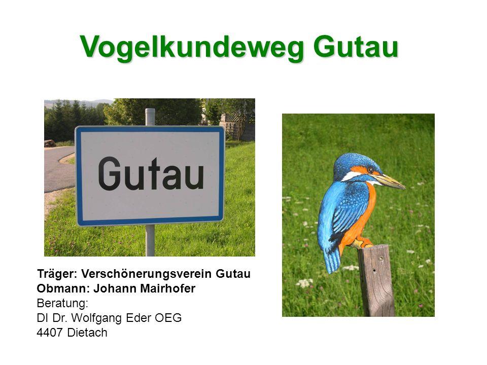 Vogelkundeweg Gutau Träger: Verschönerungsverein Gutau