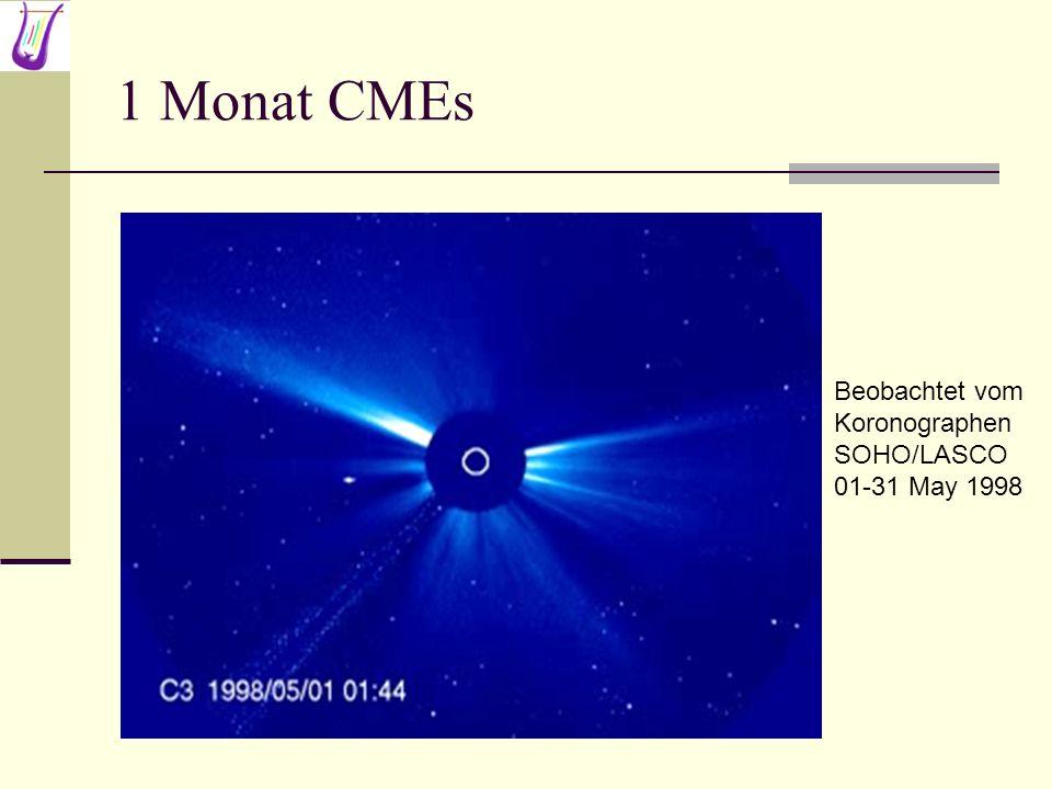 1 Monat CMEs Beobachtet vom Koronographen SOHO/LASCO 01-31 May 1998