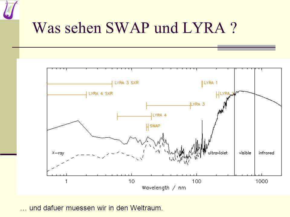 Was sehen SWAP und LYRA … und dafuer muessen wir in den Weltraum.