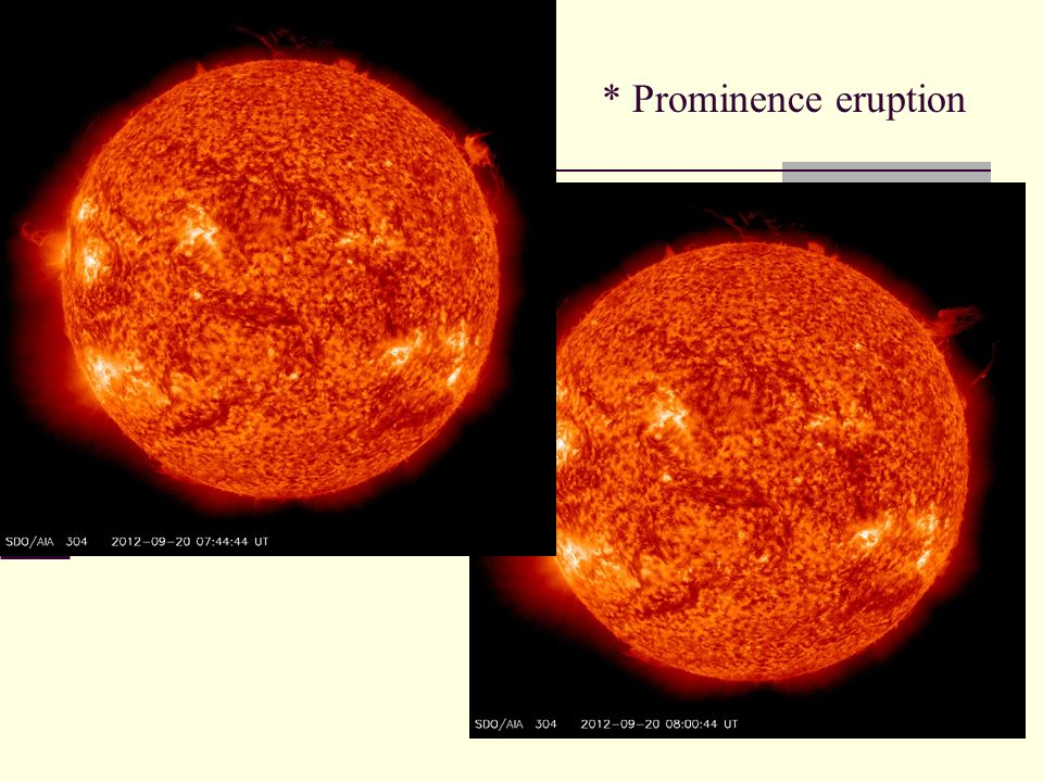 * Prominence eruption