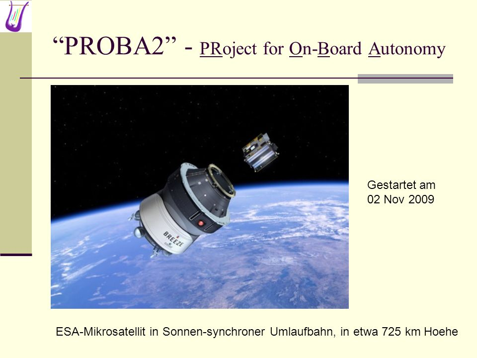 PROBA2 - PRoject for On-Board Autonomy