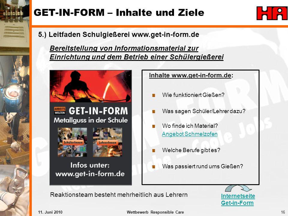 GET-IN-FORM – Inhalte und Ziele