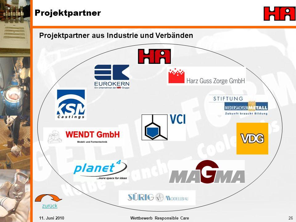 Projektpartner Projektpartner aus Industrie und Verbänden