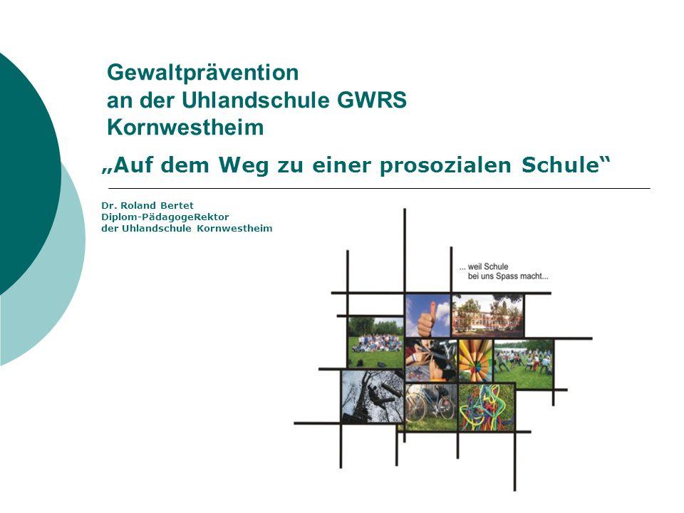 Gewaltprävention an der Uhlandschule GWRS Kornwestheim