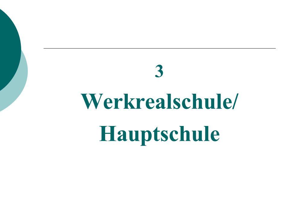 Werkrealschule/ Hauptschule