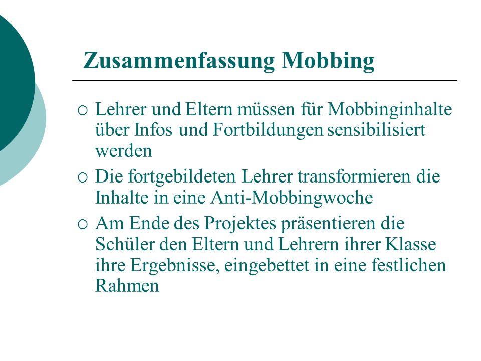 Zusammenfassung Mobbing