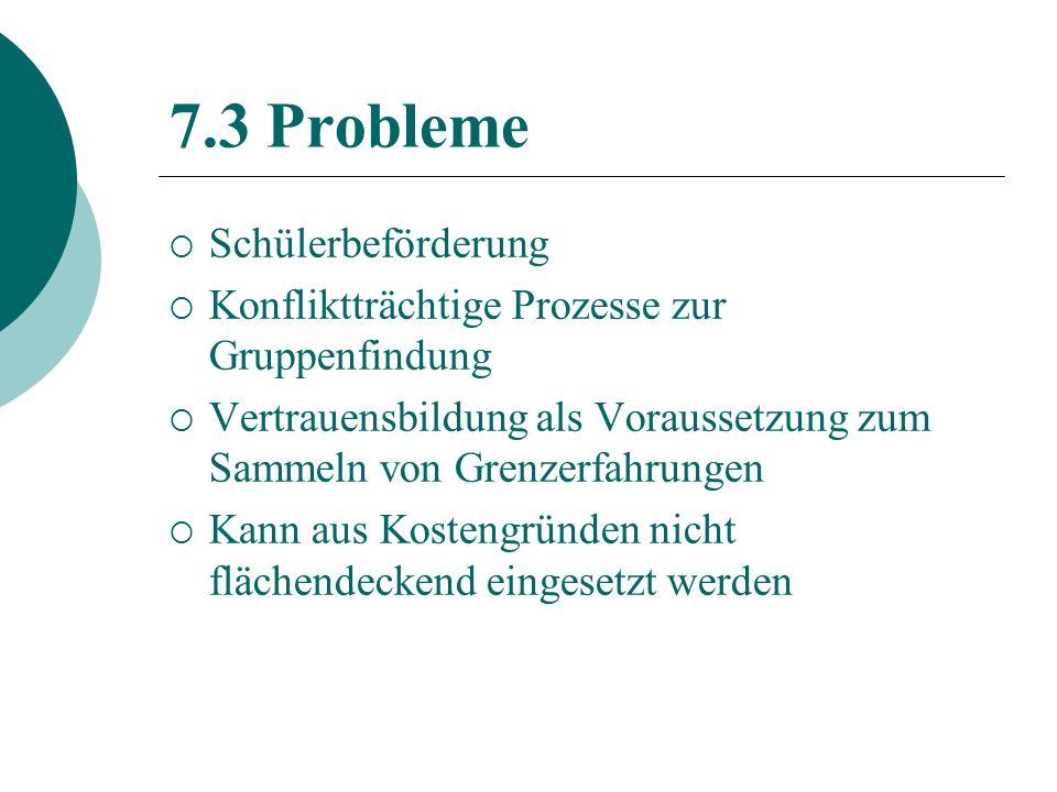 7.3 Probleme Schülerbeförderung