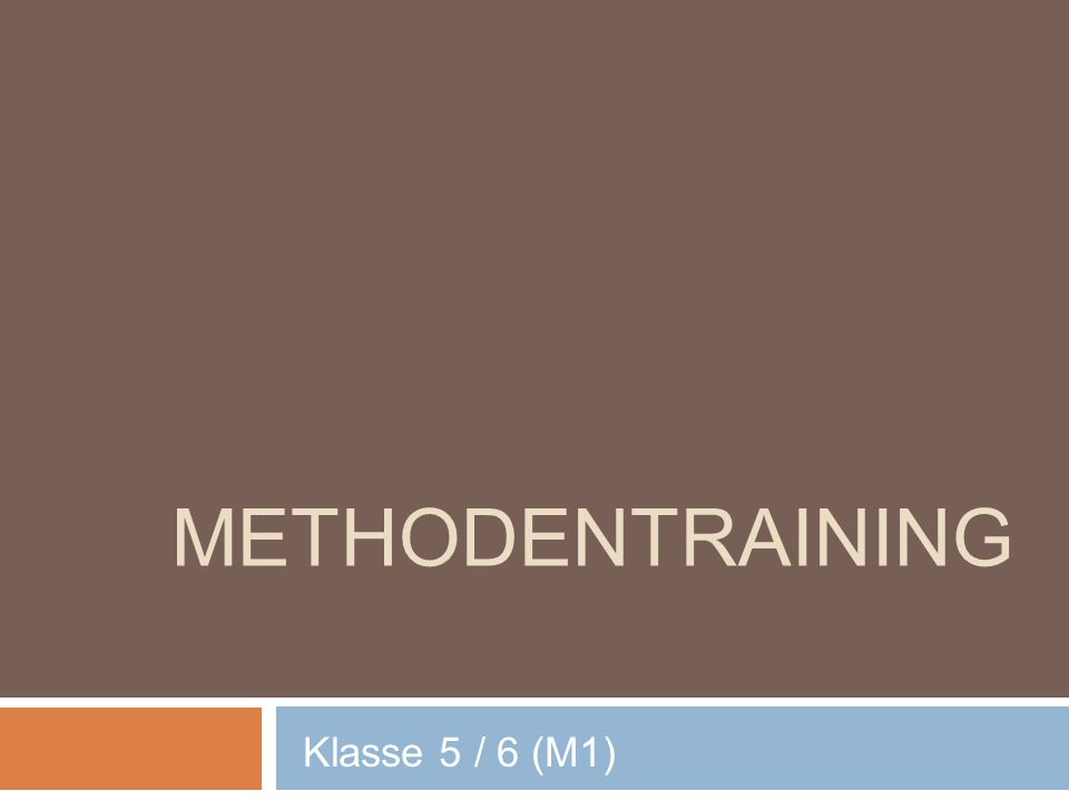 Methodentraining Klasse 5 / 6 (M1)