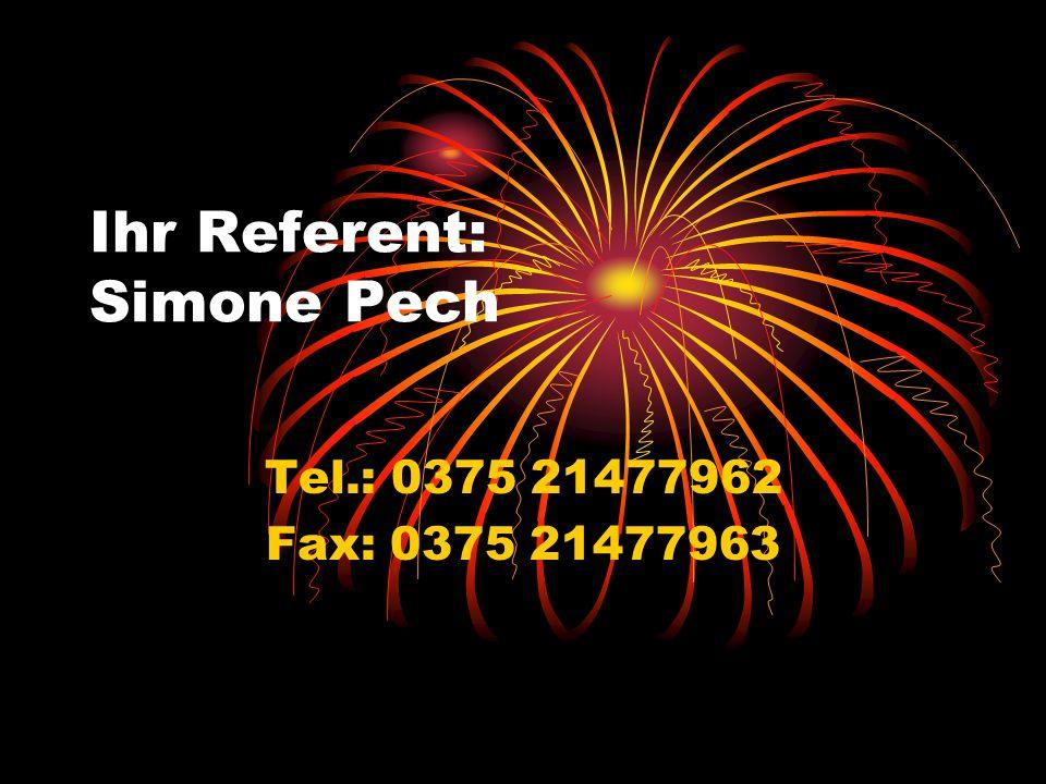 Ihr Referent: Simone Pech