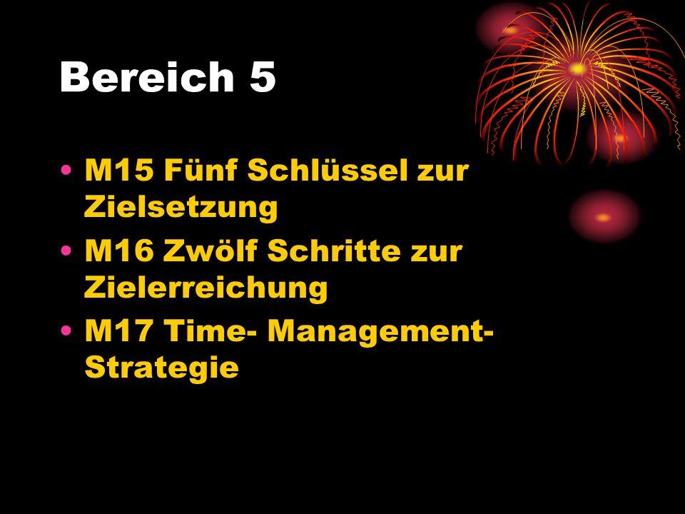 Bereich 5 M15 Fünf Schlüssel zur Zielsetzung