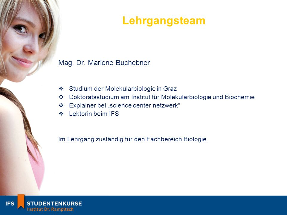 Lehrgangsteam Mag. Dr. Marlene Buchebner