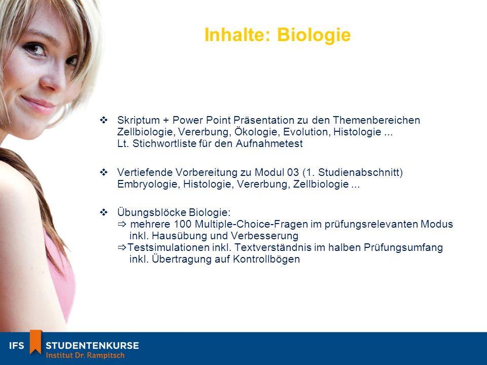 Inhalte: Biologie