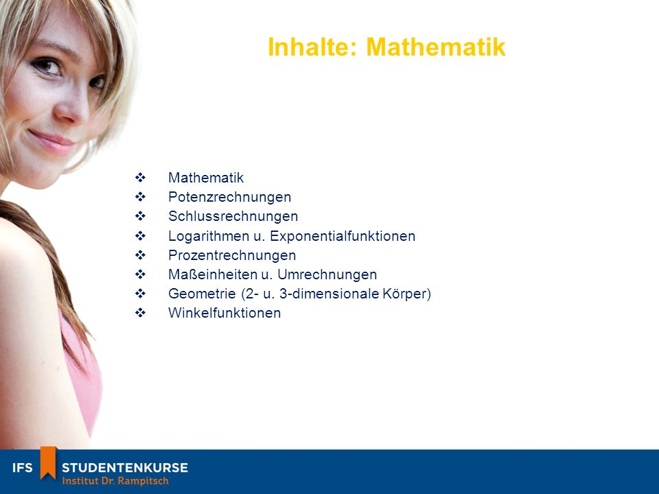 Inhalte: Mathematik Mathematik Potenzrechnungen Schlussrechnungen