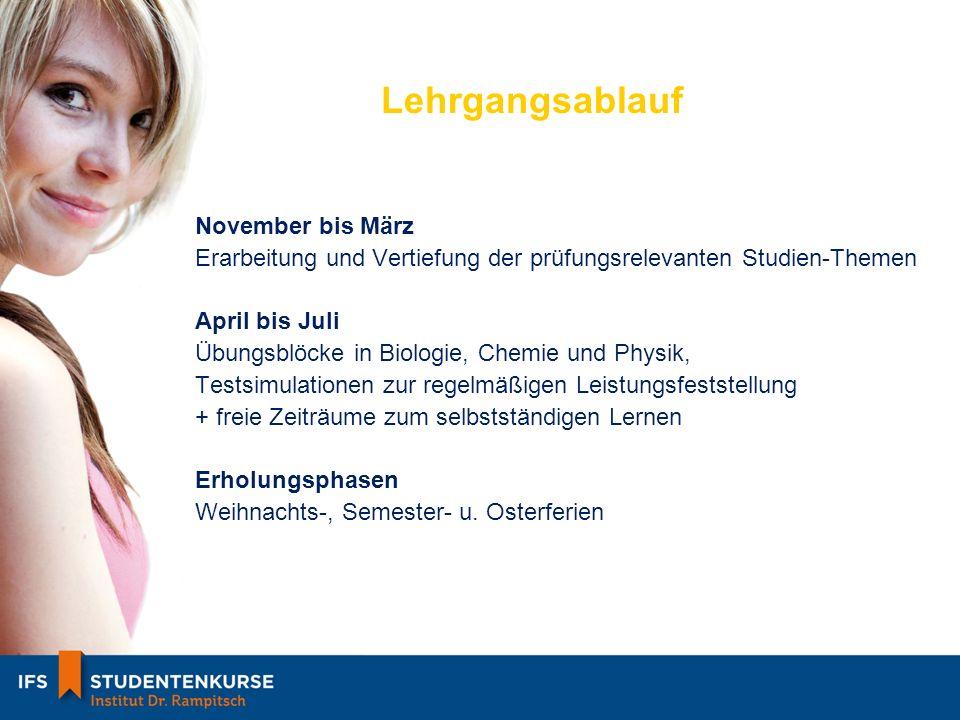 Lehrgangsablauf November bis März