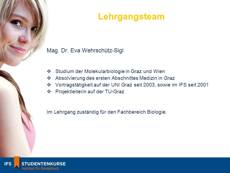 Lehrgangsteam Mag. Dr. Eva Wehrschütz-Sigl
