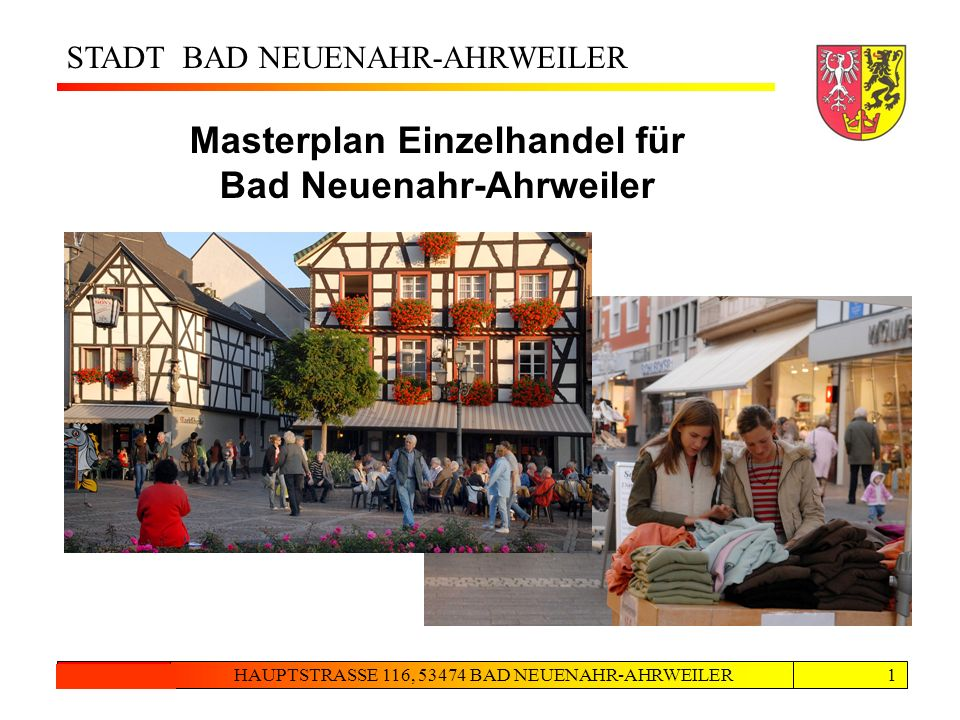 Masterplan Einzelhandel für Bad Neuenahr-Ahrweiler