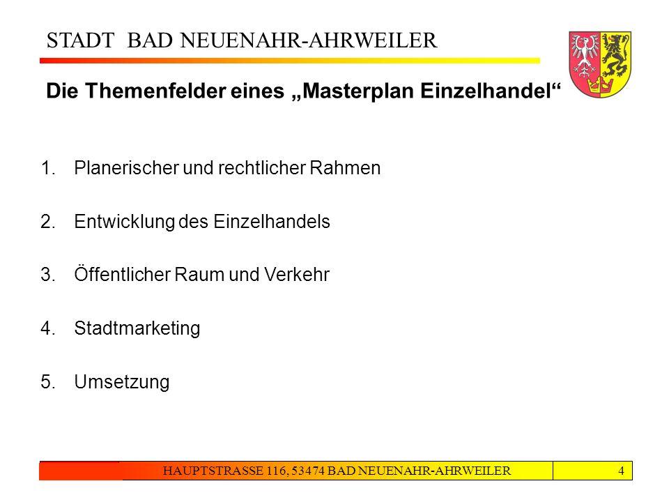 """Themenfelder Die Themenfelder eines """"Masterplan Einzelhandel"""