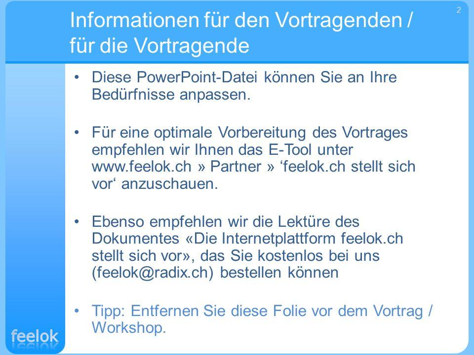 Informationen für den Vortragenden / für die Vortragende