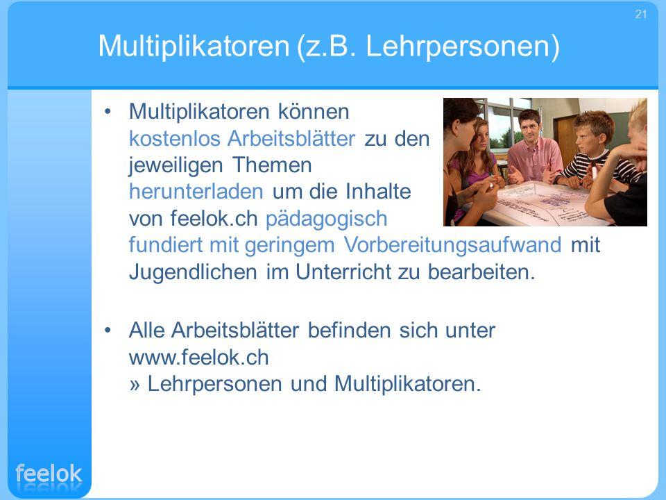 Multiplikatoren (z.B. Lehrpersonen)