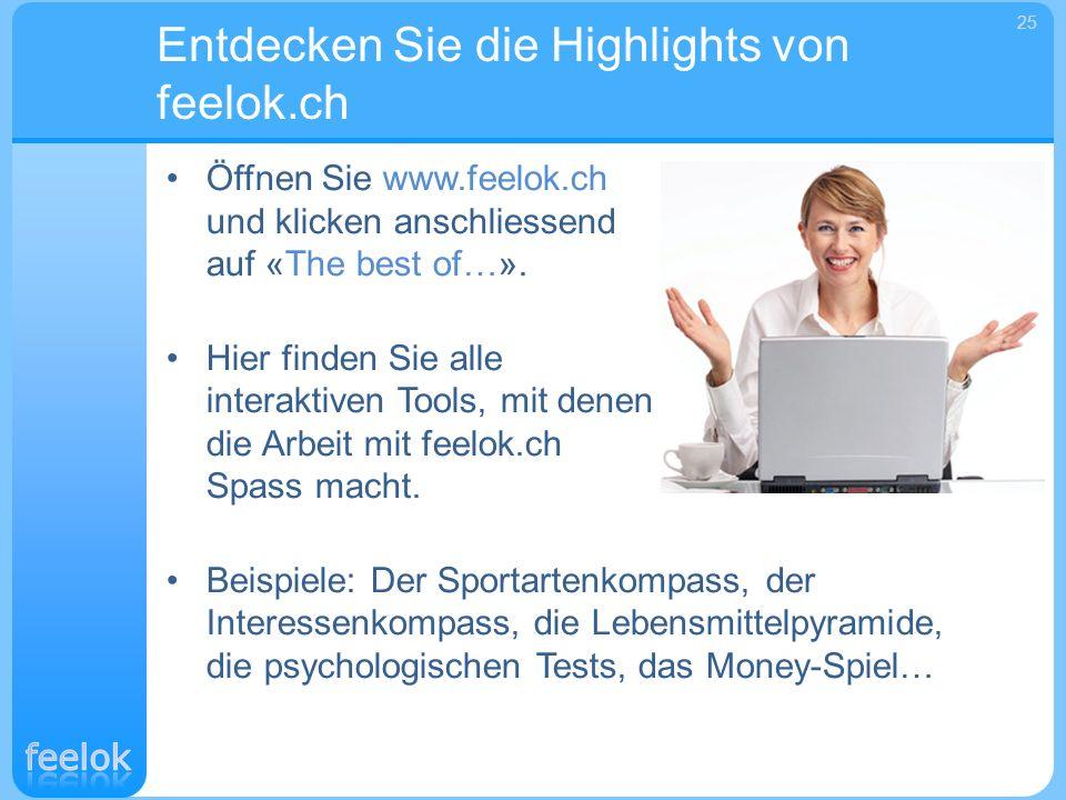 Entdecken Sie die Highlights von feelok.ch