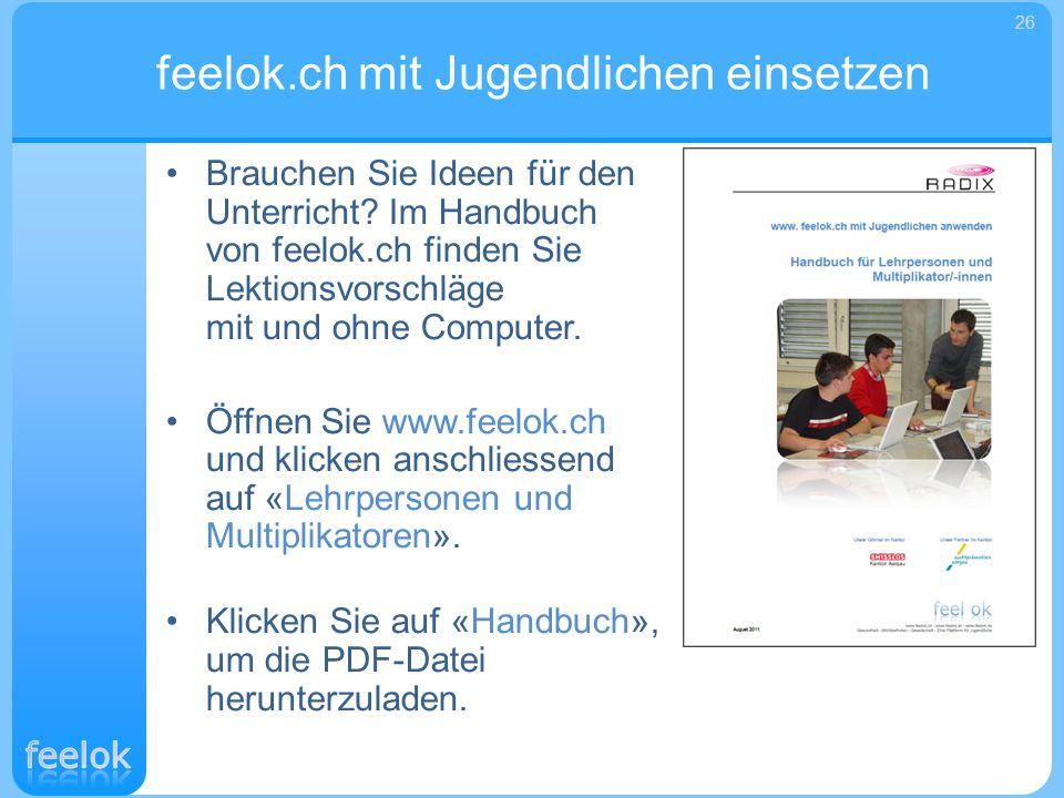 feelok.ch mit Jugendlichen einsetzen