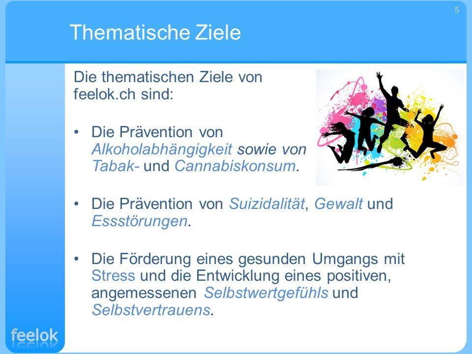 Thematische Ziele Die thematischen Ziele von feelok.ch sind: