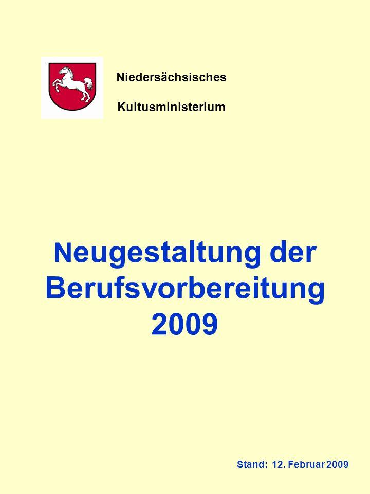 Neugestaltung der Berufsvorbereitung 2009