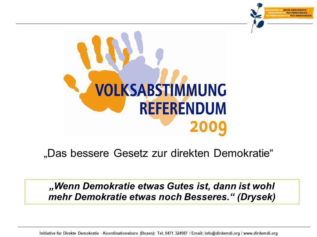 """""""Das bessere Gesetz zur direkten Demokratie"""