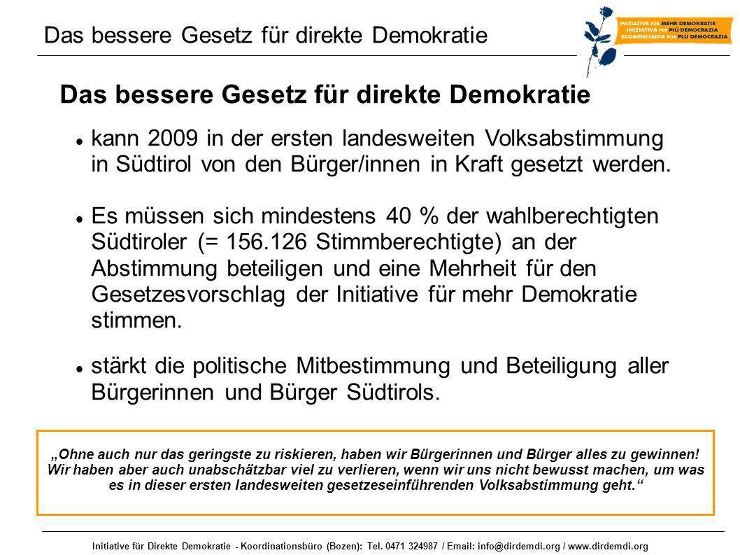 Das bessere Gesetz für direkte Demokratie