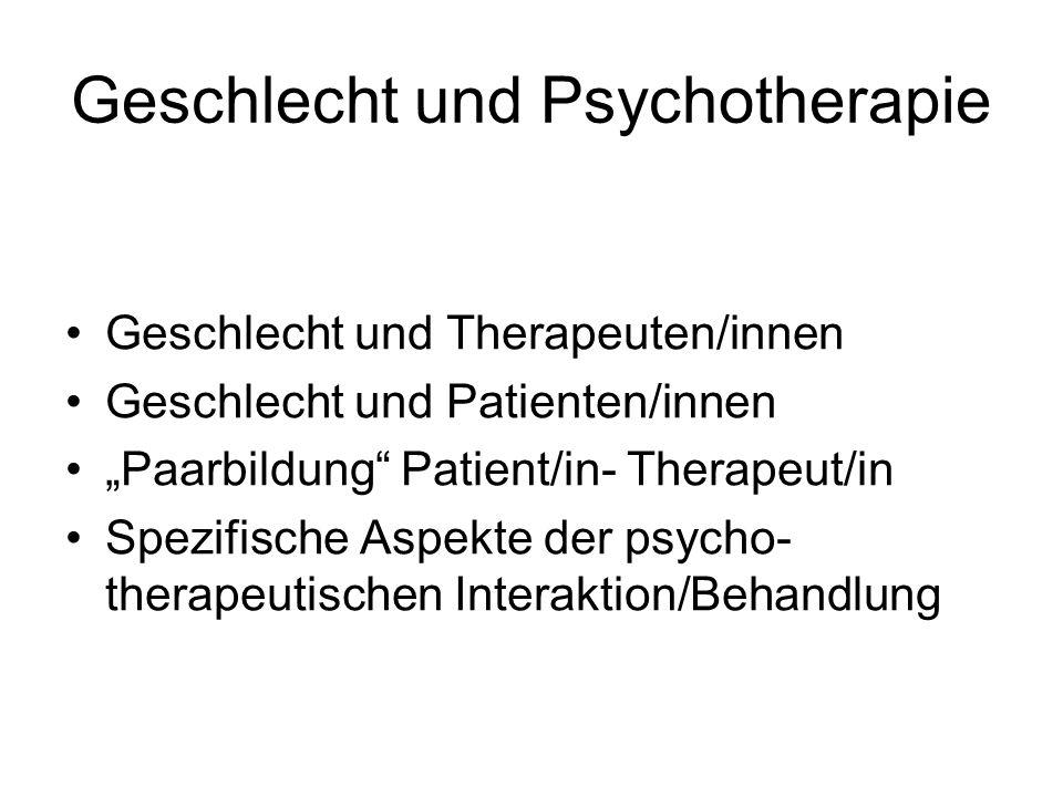 Geschlecht und Psychotherapie