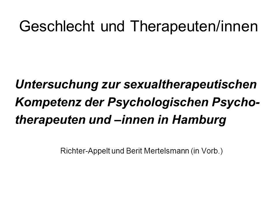 Geschlecht und Therapeuten/innen