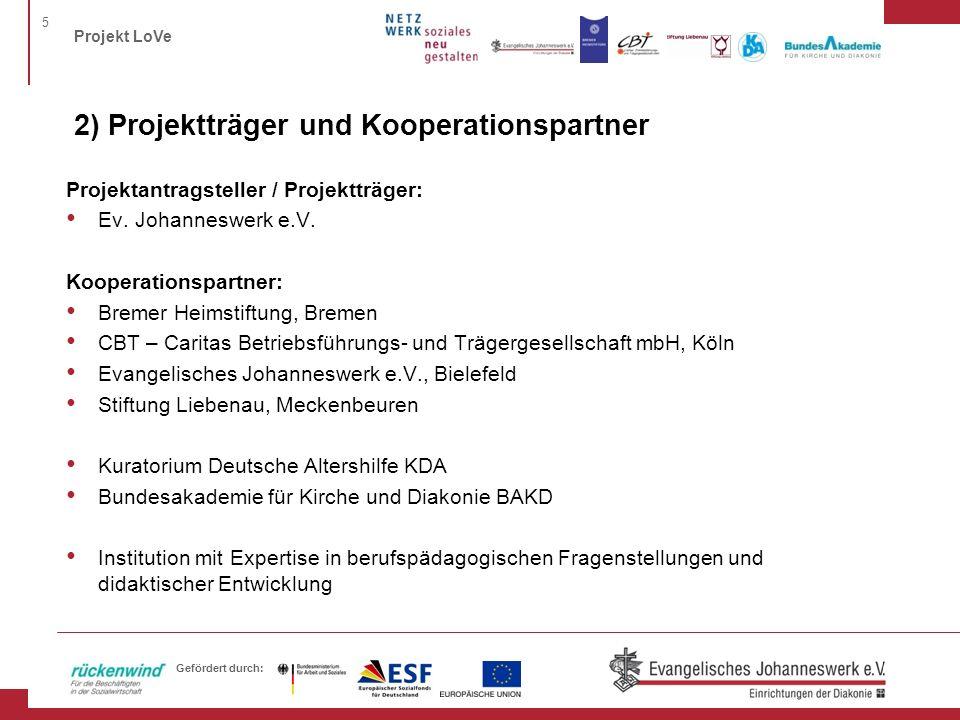 2) Projektträger und Kooperationspartner
