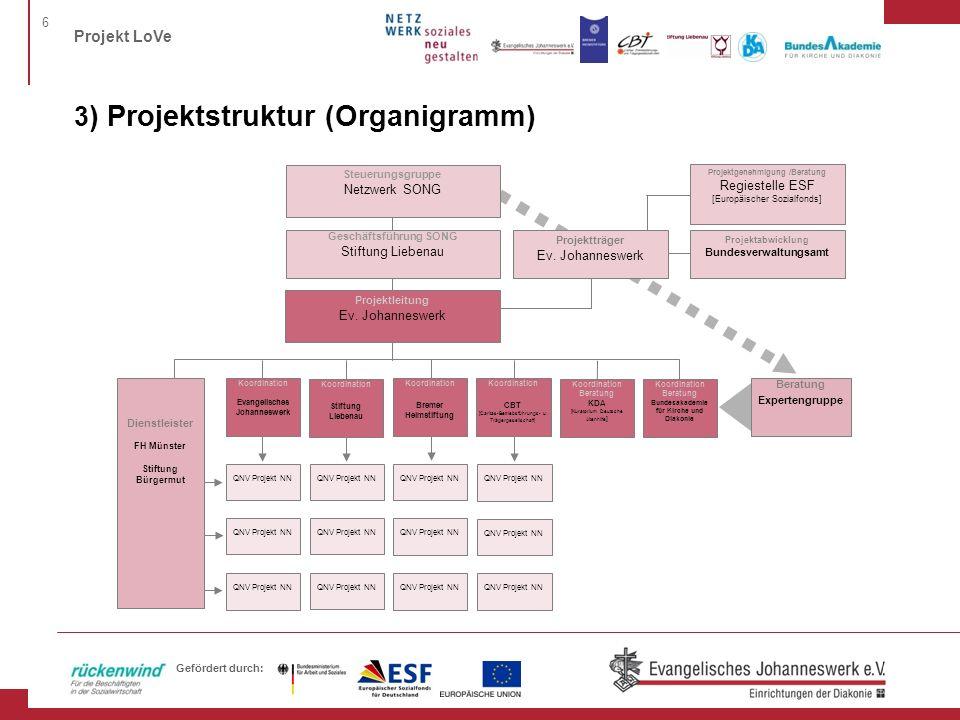 3) Projektstruktur (Organigramm)