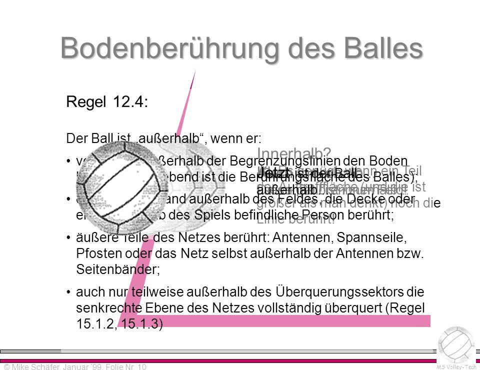 Bodenberührung des Balles