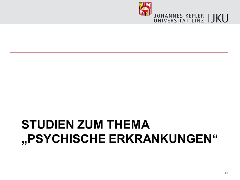 """Studien zum Thema """"psychische erkrankungen"""