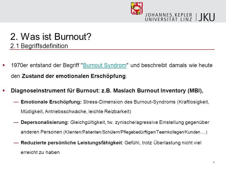 2. Was ist Burnout 2.1 Begriffsdefinition