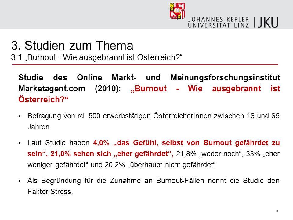 """3. Studien zum Thema 3.1 """"Burnout - Wie ausgebrannt ist Österreich"""