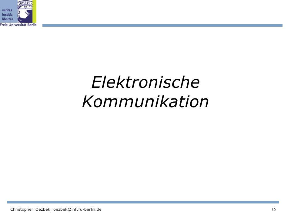Elektronische Kommunikation
