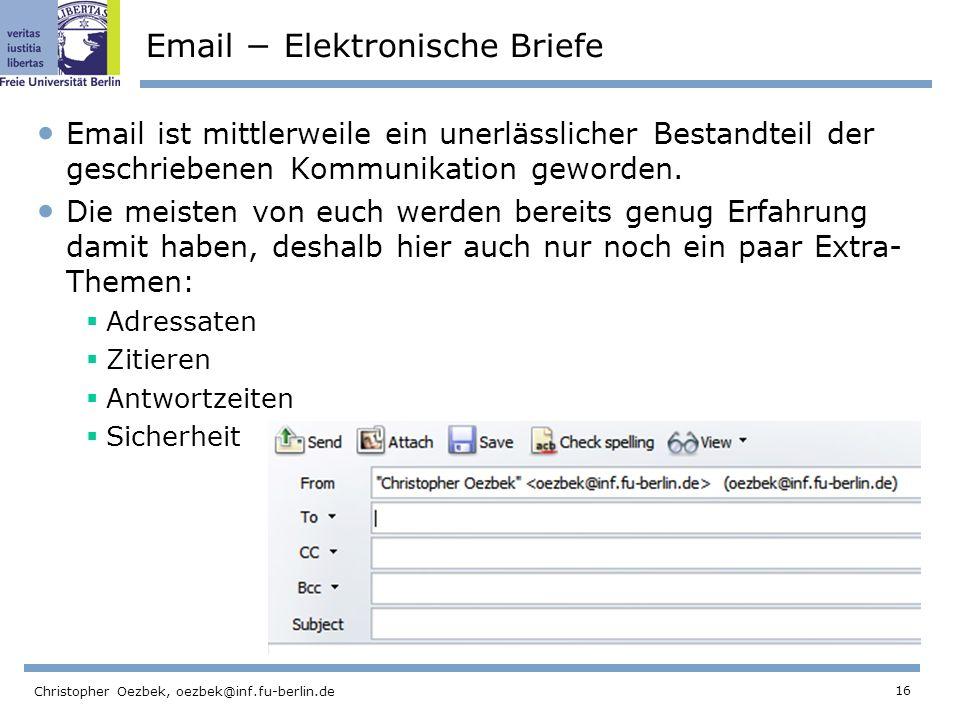 Email − Elektronische Briefe