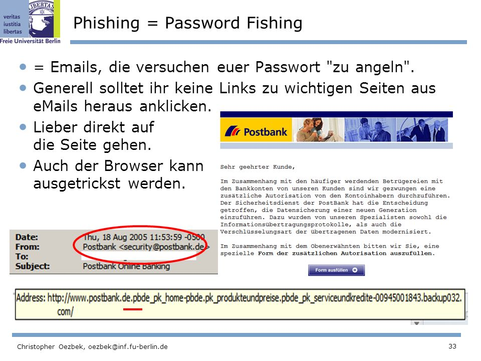 Phishing = Password Fishing