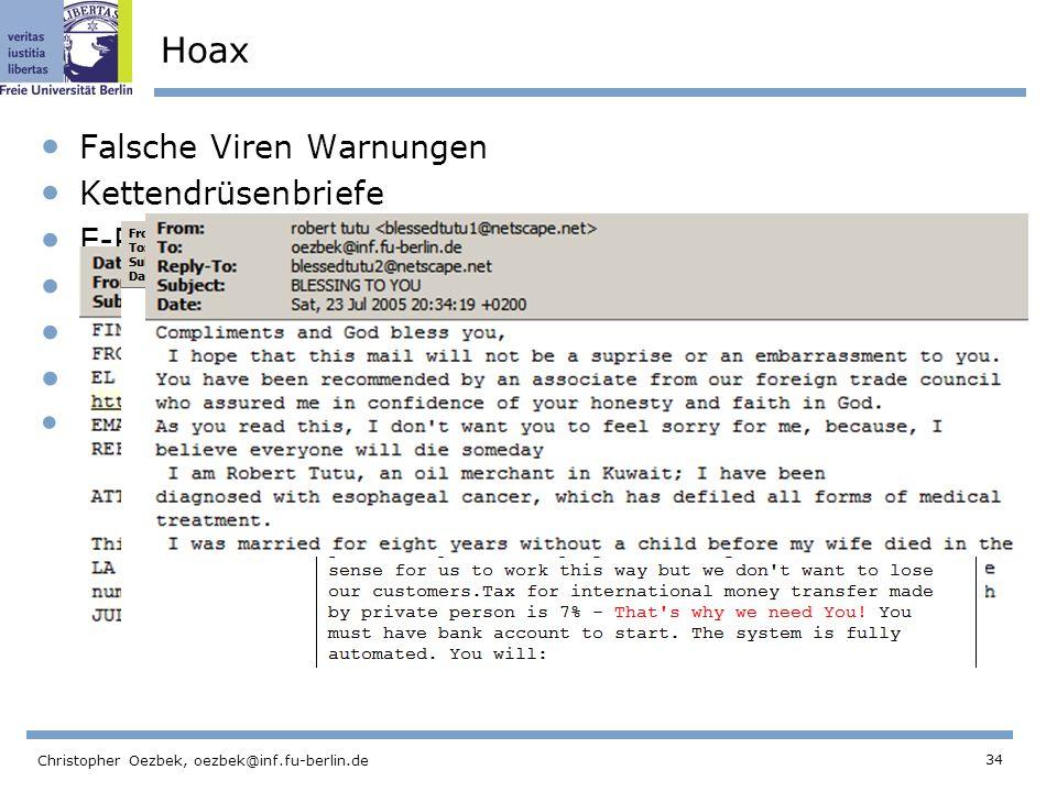 Hoax Falsche Viren Warnungen Kettendrüsenbriefe E-Petitions