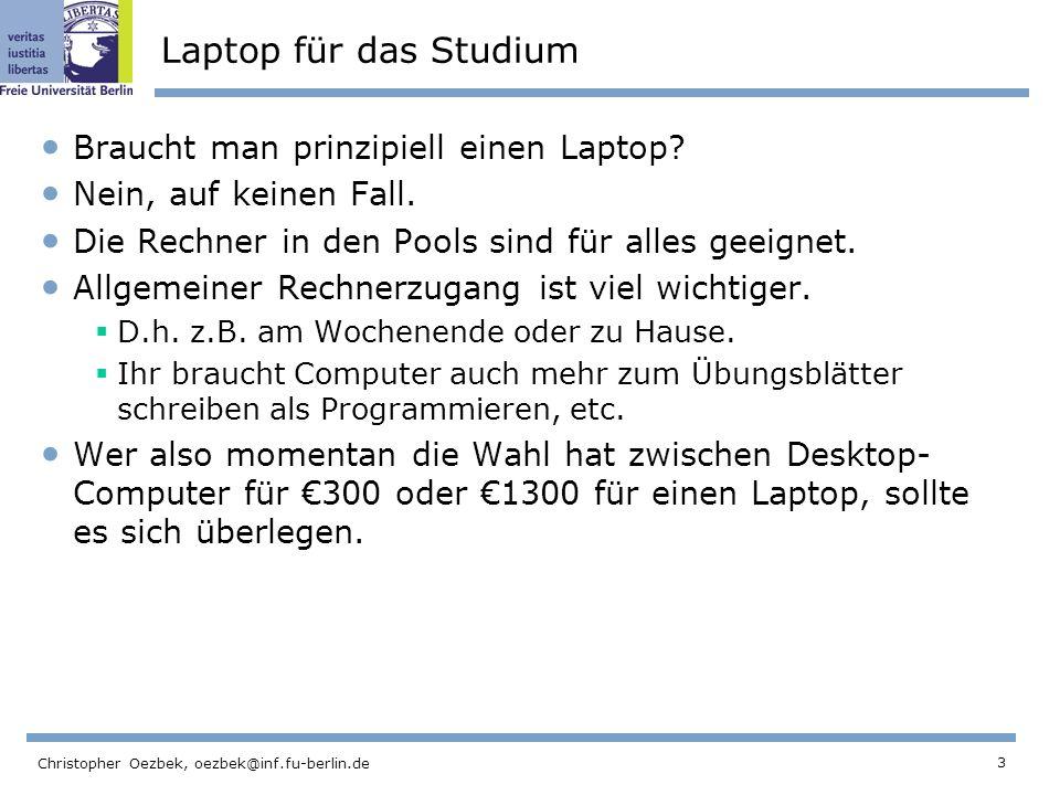 Laptop für das Studium Braucht man prinzipiell einen Laptop