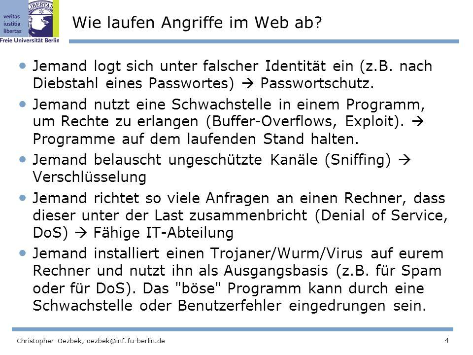 Wie laufen Angriffe im Web ab