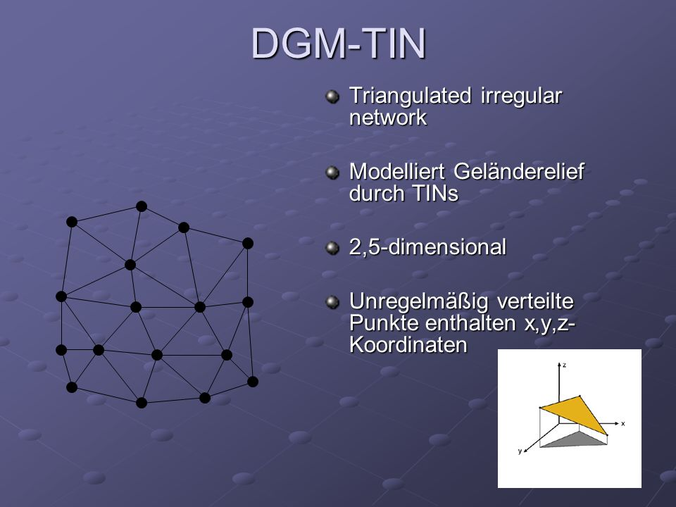 DGM-TIN Triangulated irregular network