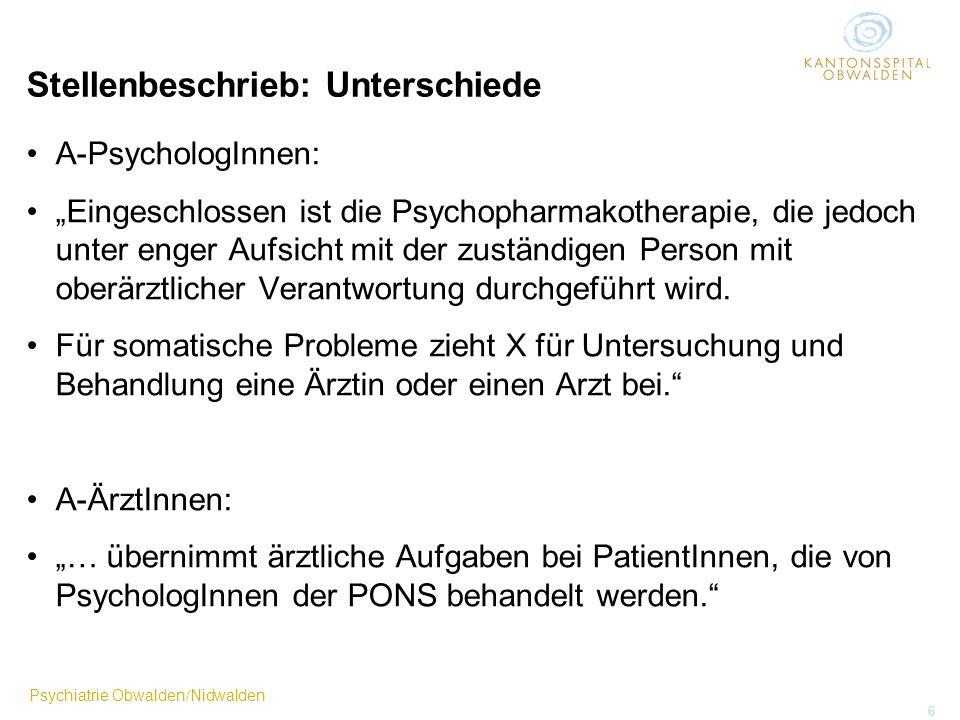 Psychiatrie als Aufgabe oder als Beruf