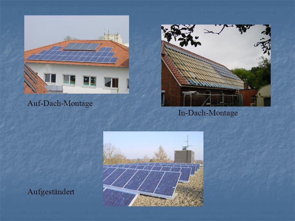 Auf-Dach-Montage In-Dach-Montage Aufgeständert