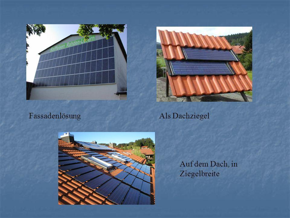 Fassadenlösung Als Dachziegel Auf dem Dach, in Ziegelbreite