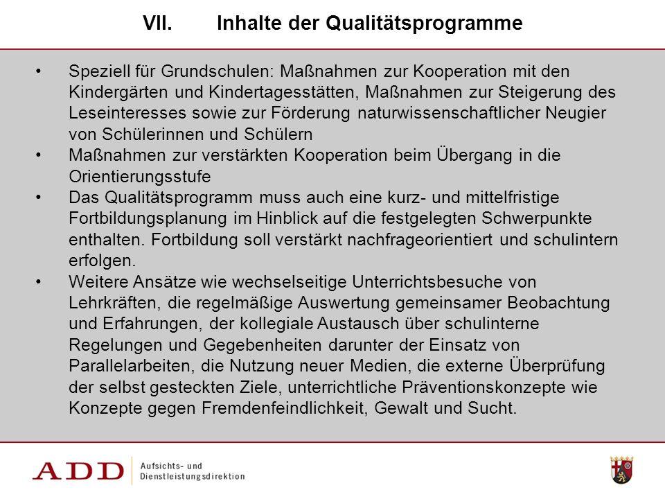 Inhalte der Qualitätsprogramme